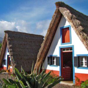 Madeira typical Santana houses